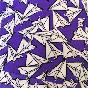 Lularoe NEW TC Leggings purple paper airplanes